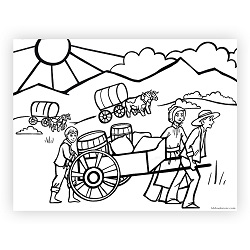 Pioneer Day Coloring Page pioneer day printable, pioneer day activity, pioneer day activities, pioneer day coloring page
