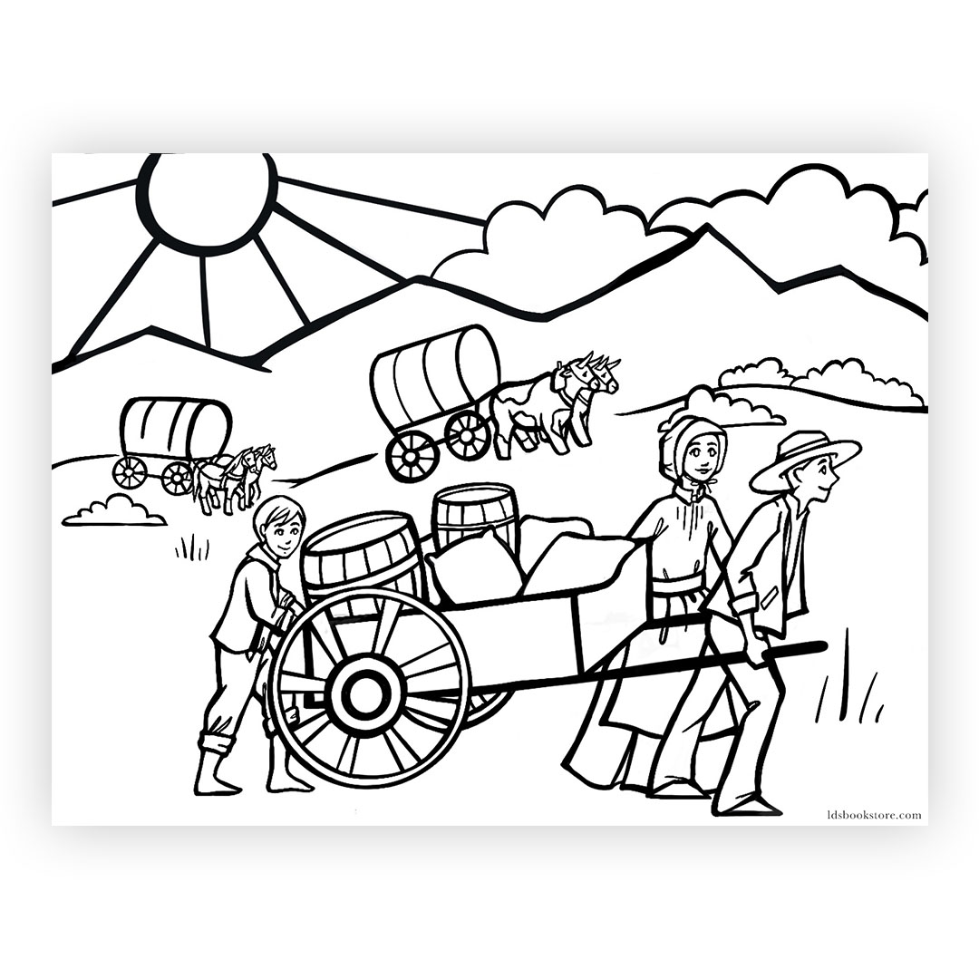 Pioneer Day Coloring Page