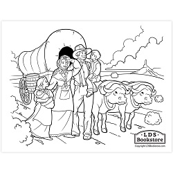 Pioneer Day Coloring Page - Printable - LDPD-COLOR-PIONEER20