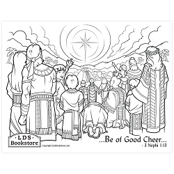 Be of Good Cheer Coloring Page - Printable  book of mormon coloring page, come follow me coloring page, lds coloring page,