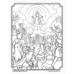 Behold My Beloved Son Coloring Page - Printable book of mormon coloring page, come follow me coloring page, lds coloring page, 3 nephi 11 coloring page