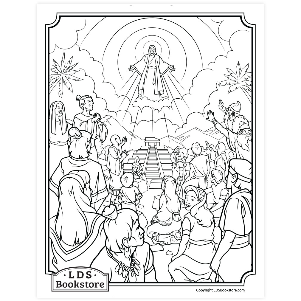 Behold My Beloved Son Coloring Page Printable
