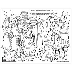 Other Sheep I Have Coloring Page - Printable  come follow me coloring page, free lds coloring page, come follow me activity, come follow me, 3 nephi coloring page