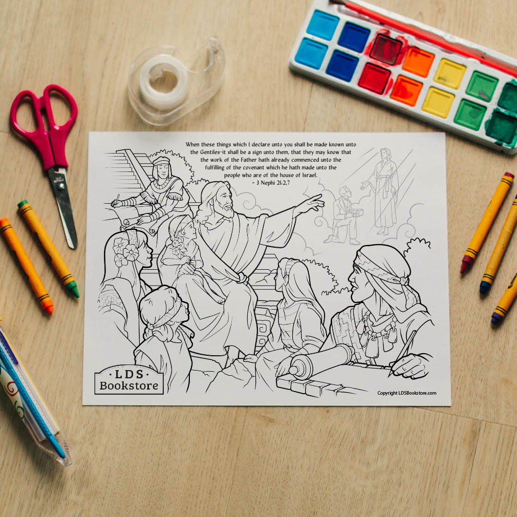 These Things Shall Be Made Known Coloring Page - Printable - LDPD-PBL-COLOR-3NEPHI21
