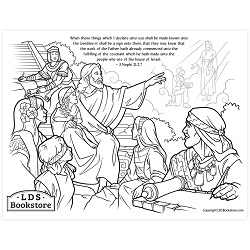 These Things Shall Be Made Known Coloring Page - Printable come follow me coloring page, free lds coloring page, come follow me activity, come follow me, 3 nephi coloring page