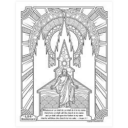 Do It In My Name Coloring Page - Printable  come follow me coloring page, free lds coloring page, come follow me activity, come follow me, 3 nephi coloring page