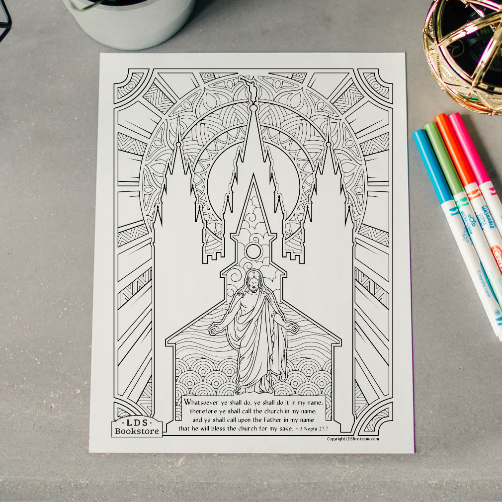 Do It In My Name Coloring Page - Printable  - LDPD-PBL-COLOR-3NEPHI27