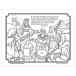 Alma and Amulek Book of Mormon Coloring Page - Printable alma and amulek coloring page, come follow me coloring page, come follow me activity, book of mormon coloring page