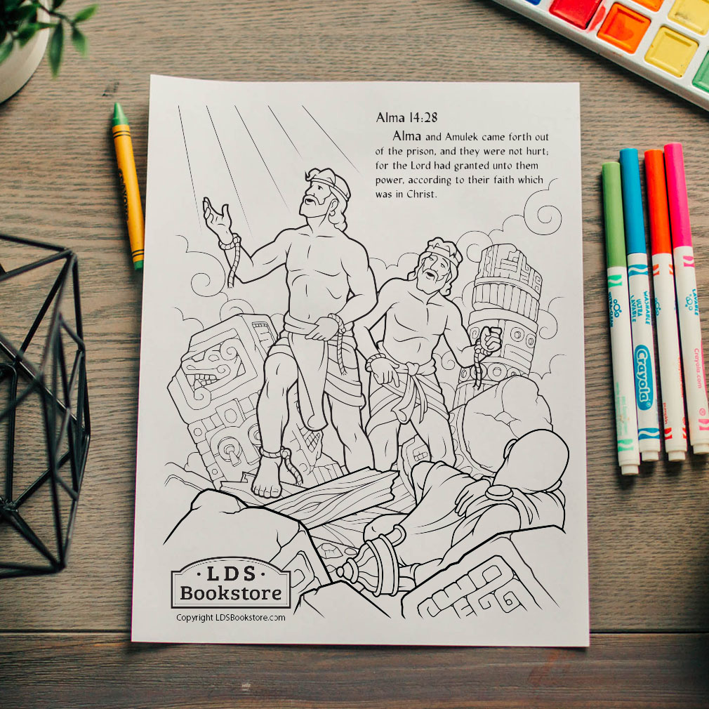 Alma and Amulek Freed From Prison Coloring Page - Printable - LDPD-PBL-ACT-COLOR-ALMA14