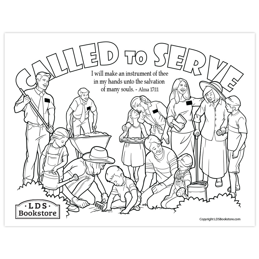I Will Make An Instrument Of Thee Book Of Mormon Coloring Page Printable
