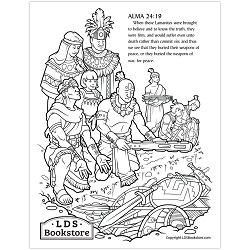 Anti-Nephi-Lehies Book of Mormon Coloring Page - Printable anti nephi lehies coloring page, book of mormon coloring page,