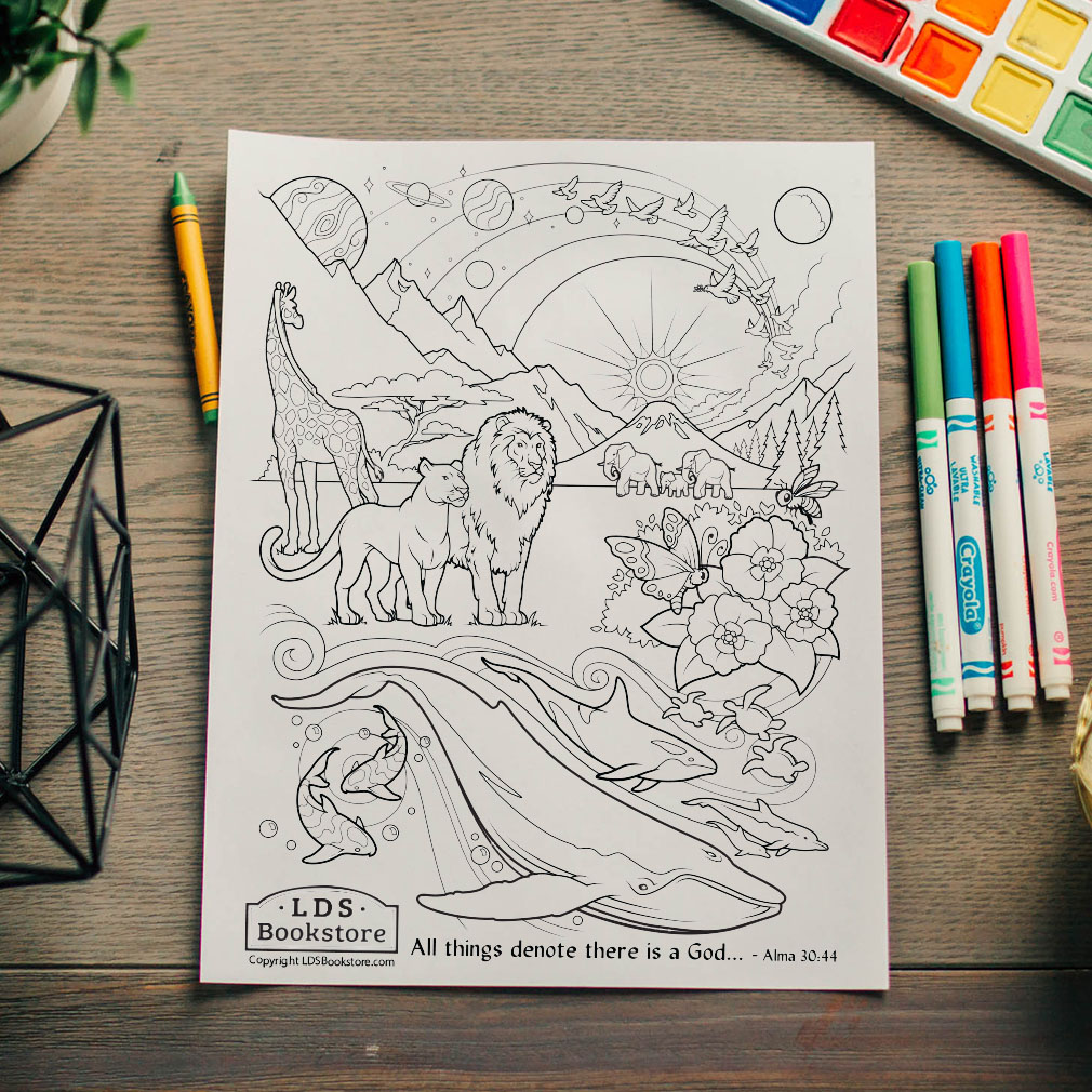 All Things Denote There is a God Coloring Page - Printable - LDPD-PBL-COLOR-ALMA30