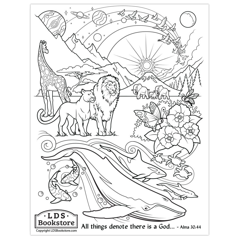 All Things Denote There Is A God Coloring Page Printable
