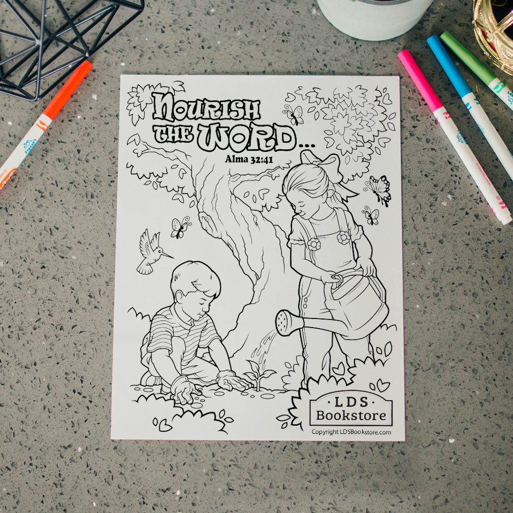 Nourish the Word Book of Mormon Coloring Page - Printable - LDPD-PBL-COLOR-ALMA32
