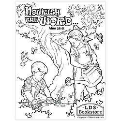 Nourish the Word Book of Mormon Coloring Page - Printable book of mormon coloring page, come follow me coloring page