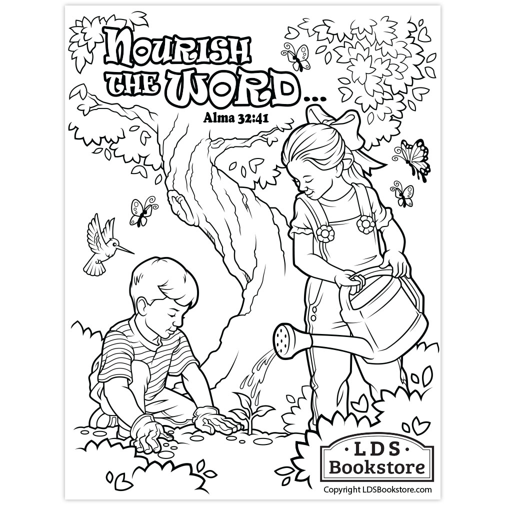 Nourish The Word Book Of Mormon Coloring Page Printable