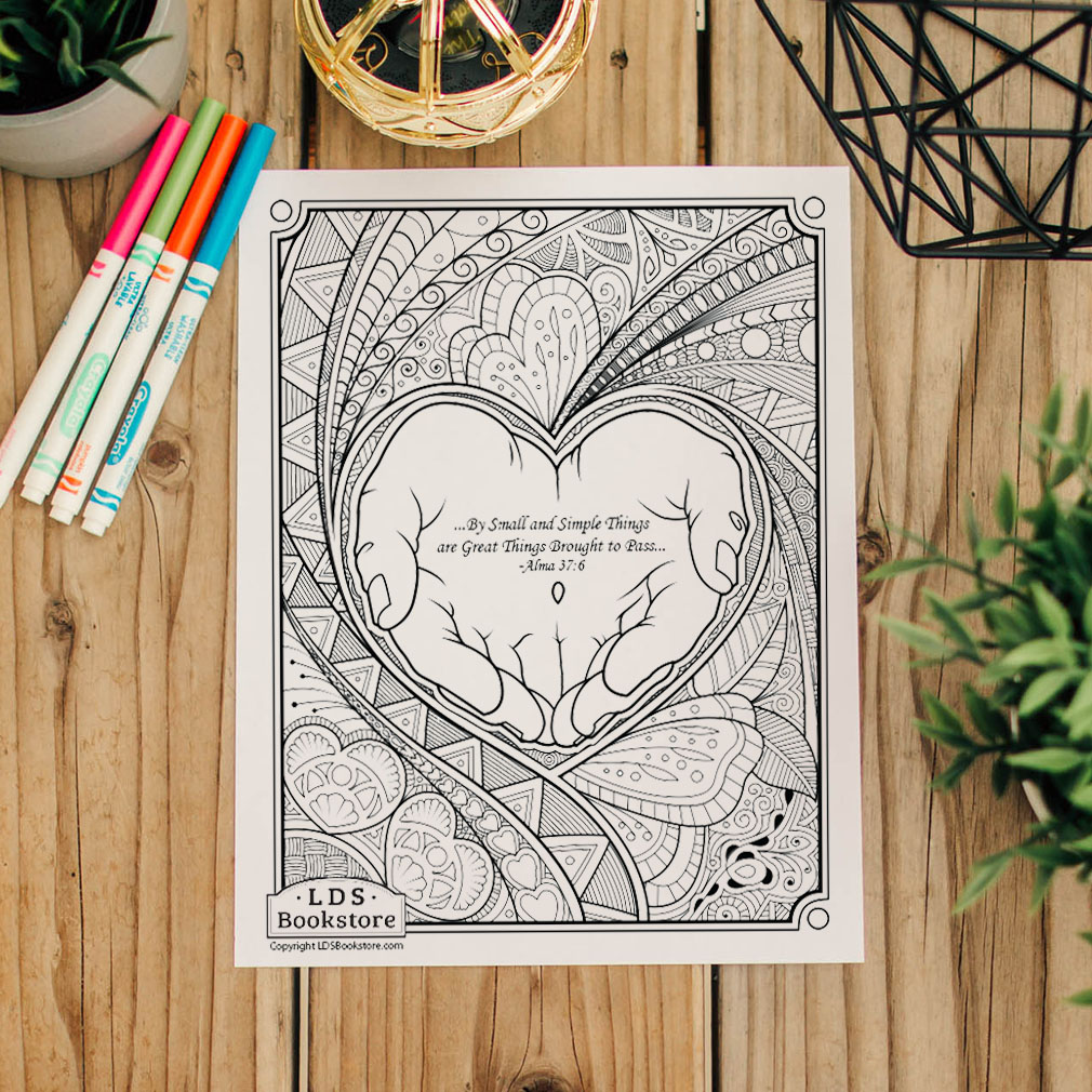 By Small and Simple Things Coloring Page - Printable - LDPD-PBL-COLOR-ALMA37