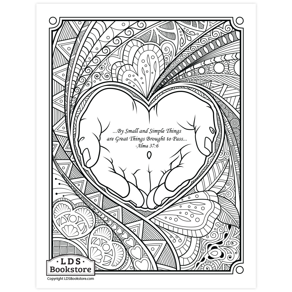 By Small And Simple Things Coloring Page Printable