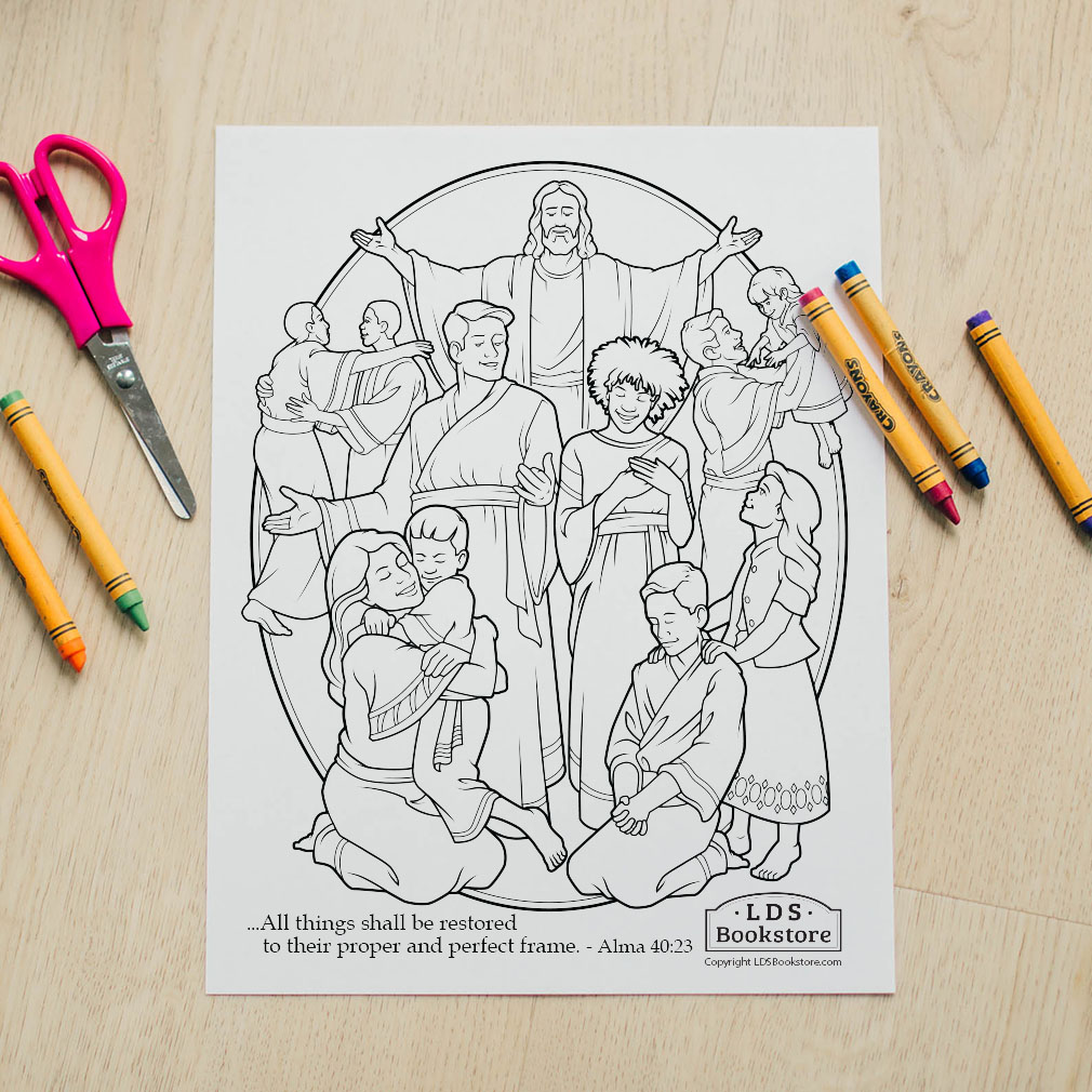 All Things Shall Be Restored Coloring Page - Printable - LDPD-PBL-COLOR-ALMA40