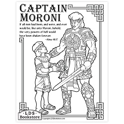 Captain Moroni Coloring Page - Printable  book of mormon coloring page, come follow me coloring page, captain moroni coloring page