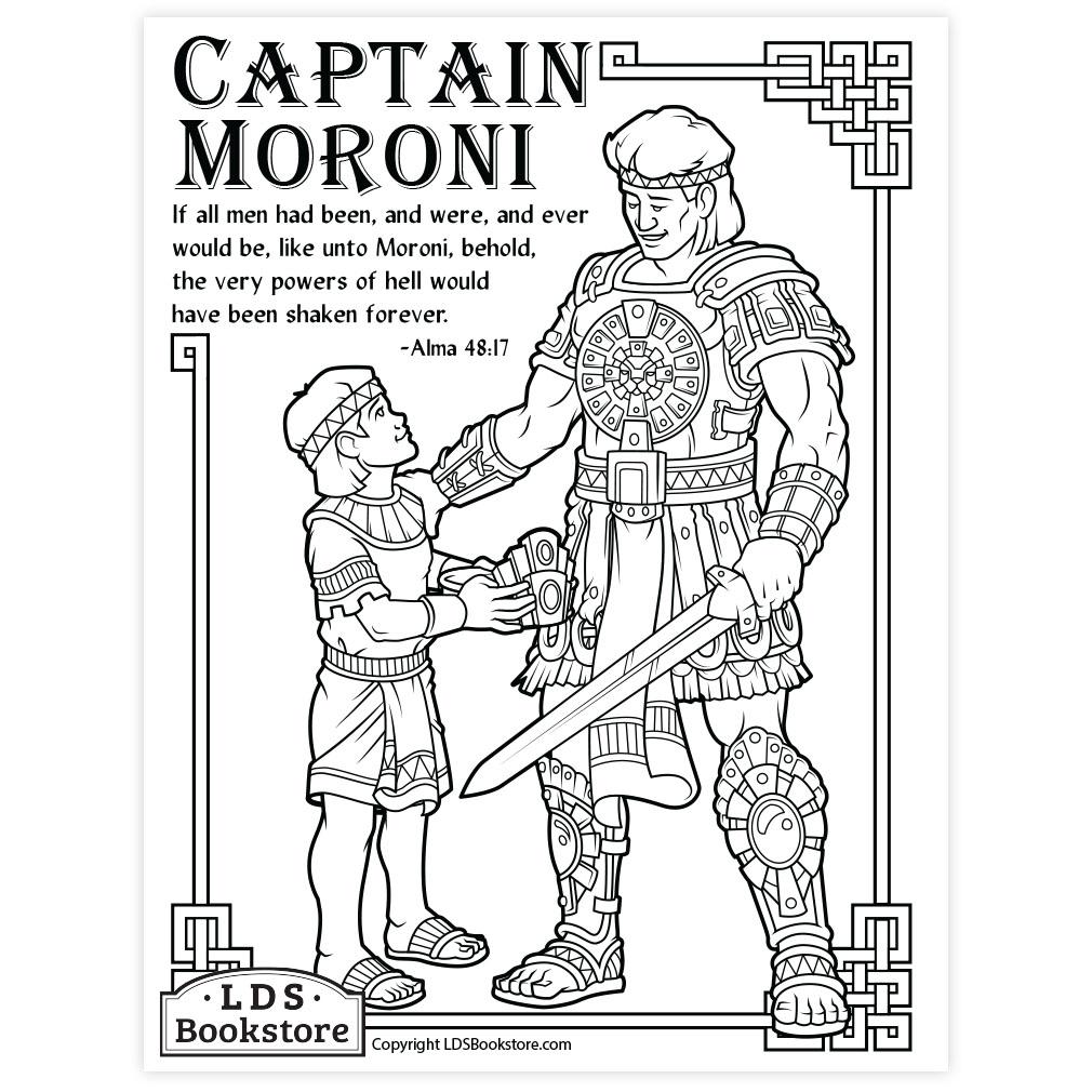 Captain Moroni Coloring Page Printable