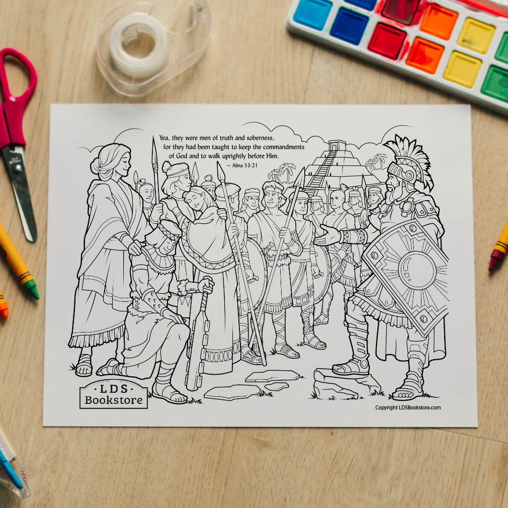 Stripling Warriors Coloring Page - Printable - LDPD-PBL-COLOR-ALMA53