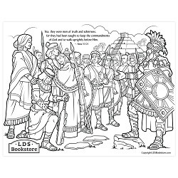 Stripling Warriors Coloring Page - Printable book of mormon coloring page, come follow me coloring page, stripling warriors coloring page, lds coloring page