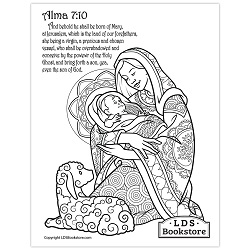 Mary & Baby Jesus Coloring Page - Printable baby jesus coloring page, come follow me coloring page, come follow me activity