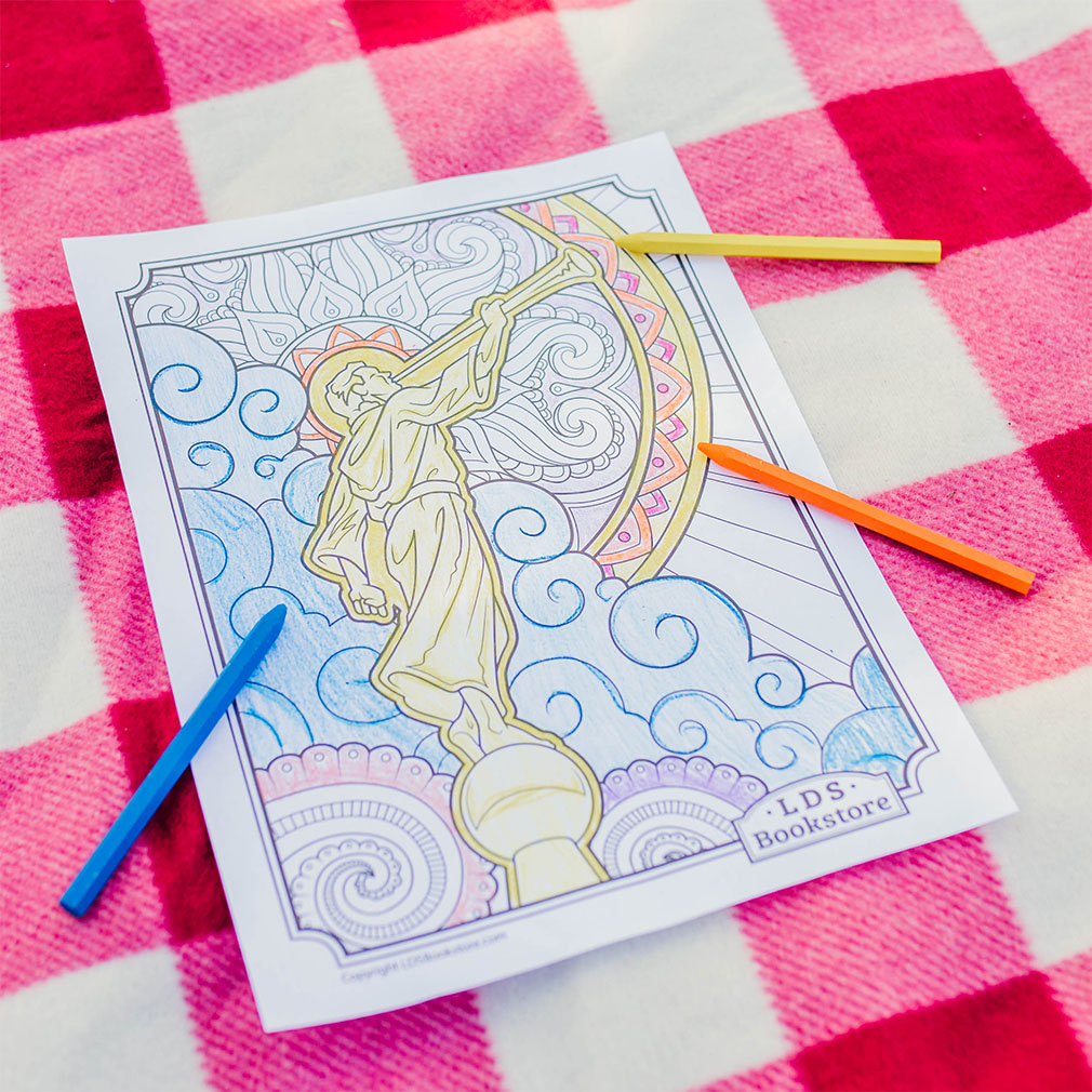 Angel Moroni Coloring Page - Printable - LDPD-PBL-COLOR-ANGMO