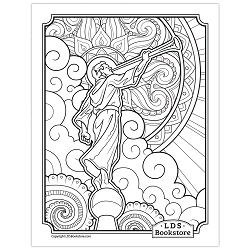 Angel Moroni Coloring Page - Printable angel moroni coloring page