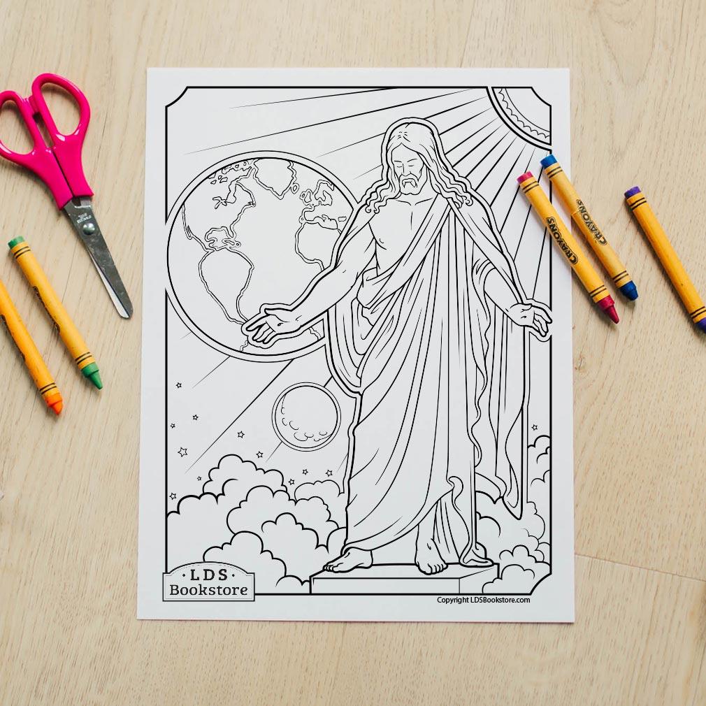 Christus Coloring Page - Printable - LDPD-PBL-COLOR-CHRISTUS