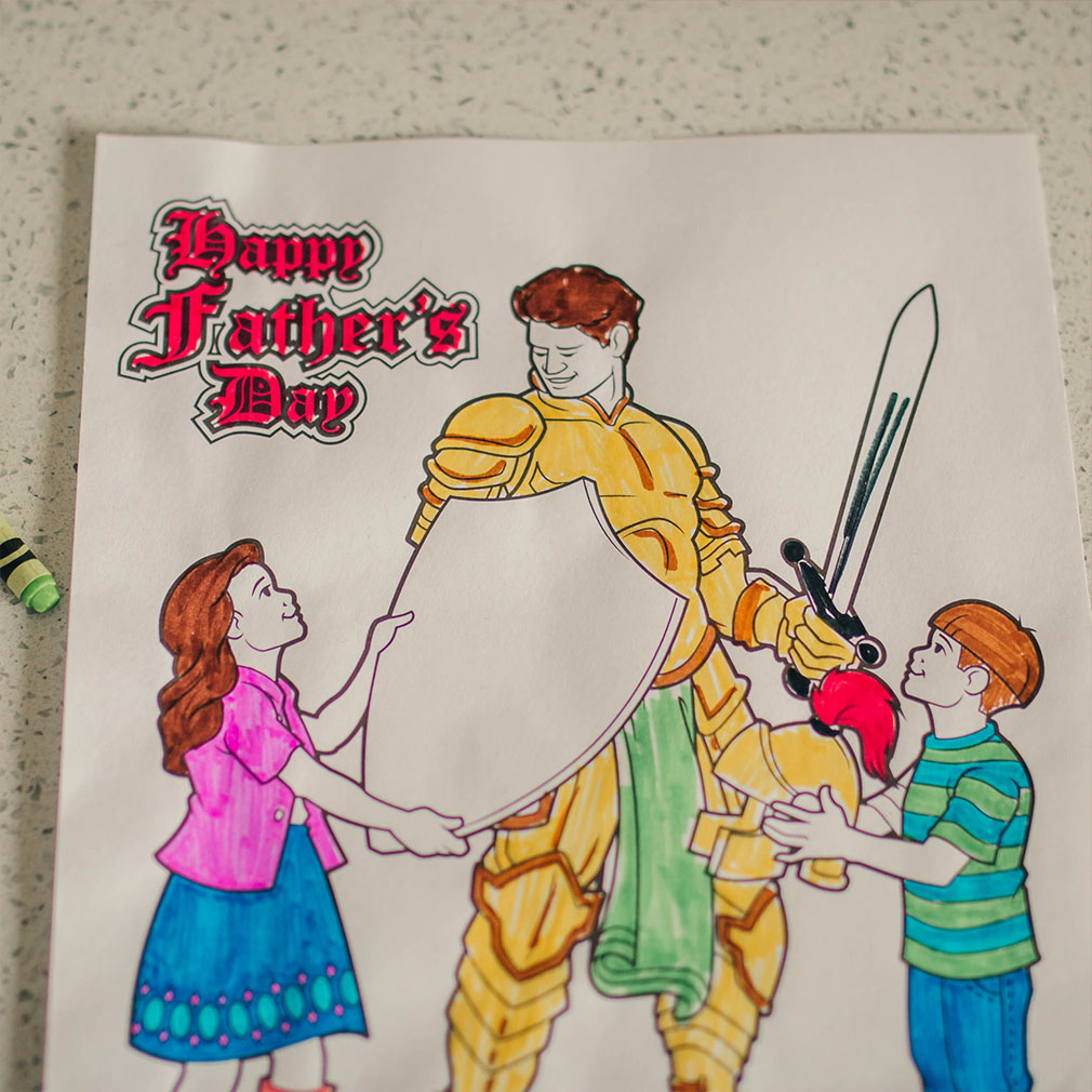 Armour of God Father's Day Coloring Page - Printable - LDPD-COLOR-DAD20