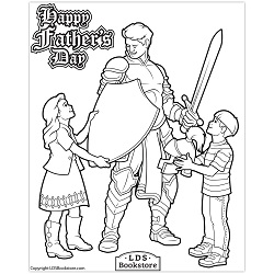 Armour of God Father's Day Coloring Page - Printable lds father's day printable, lds father's day coloring page, lds printable