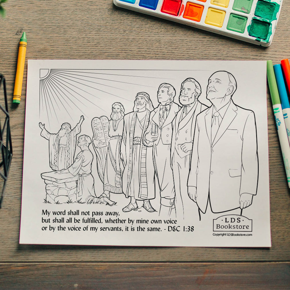 The Voice of My Servants Coloring Page - Printable  - LDPD-PBL-COLOR-DOCTCOV1