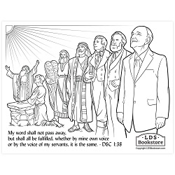 The Voice of My Servants Coloring Page - Printable  free lds coloring page, lds coloring page, come follow me activities, come follow me coloring page, doctrine and covenants coloring page