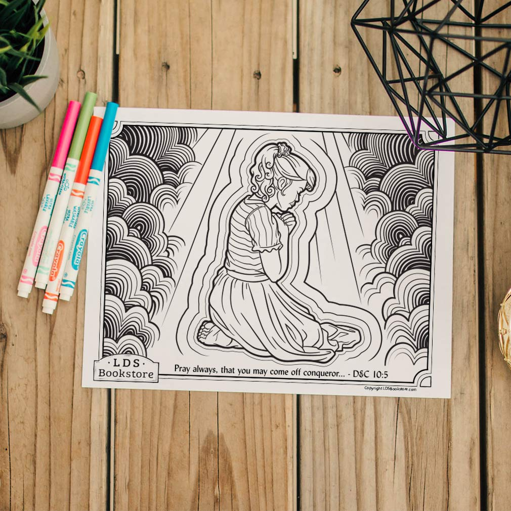 Pray Always Coloring Page - Printable  - LDPD-PBL-COLOR-DOCTCOV10