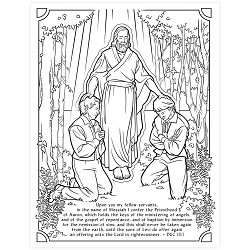 Restoration of the Priesthood Coloring Page - Printable free lds coloring page, lds coloring page, come follow me activities, come follow me coloring page, doctrine and covenants coloring page