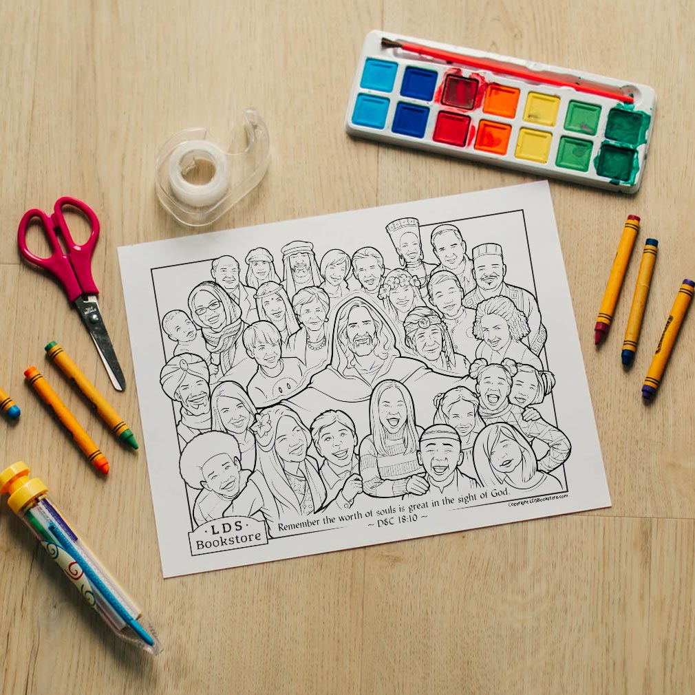 The Worth of Souls is Great Coloring Page - Printable - LDPD-PBL-COLOR-DOCTCOV18