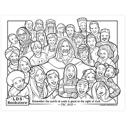 The Worth of Souls is Great Coloring Page - Printable free lds coloring page, lds coloring page, come follow me activities, come follow me coloring page, doctrine and covenants coloring page