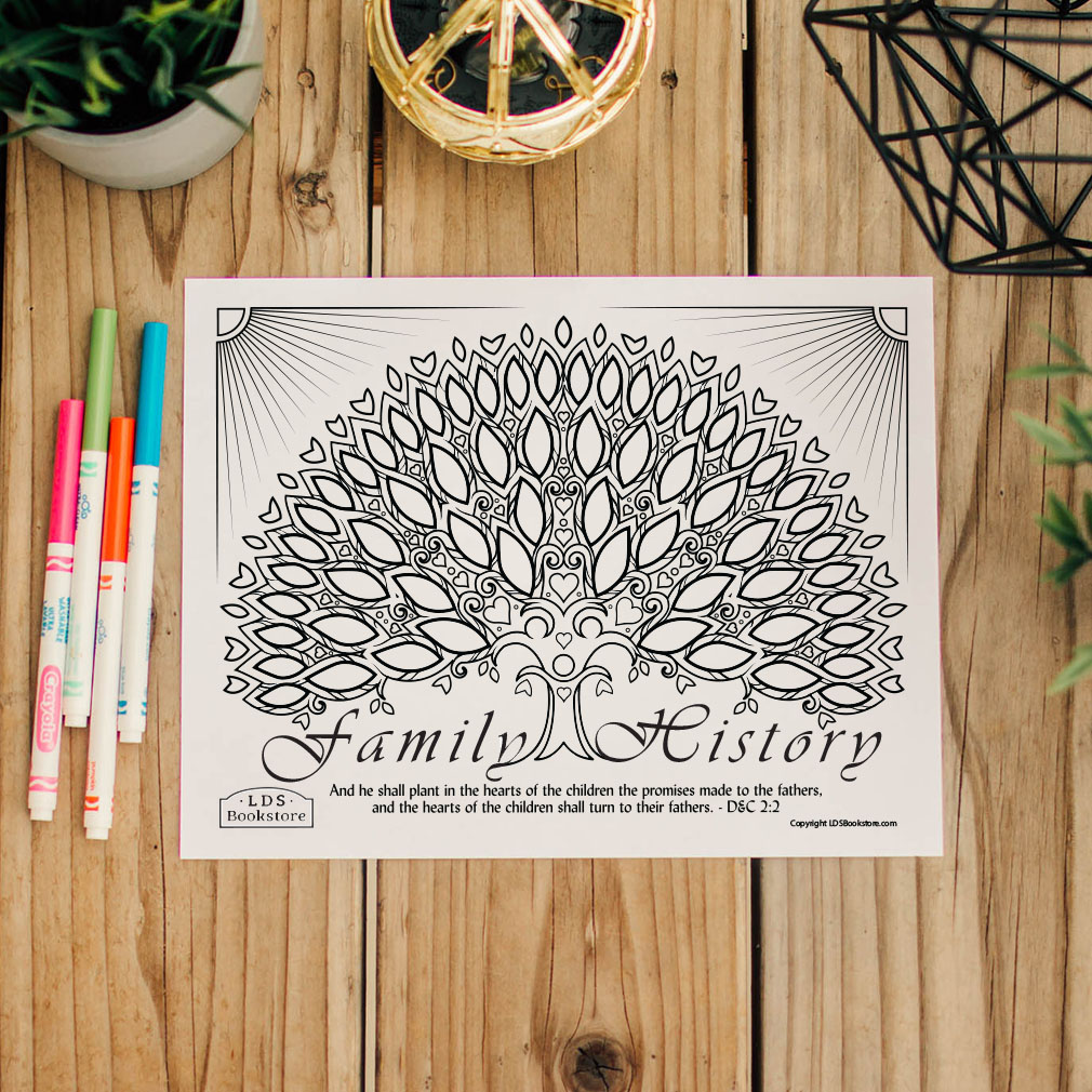 Hearts of the Children Family History Coloring Page - Printable  - LDPD-PBL-COLOR-DOCTCOV2