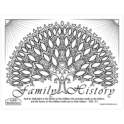 Hearts of the Children Family History Coloring Page - Printable  free lds coloring page, lds coloring page, come follow me activities, come follow me coloring page, doctrine and covenants coloring page