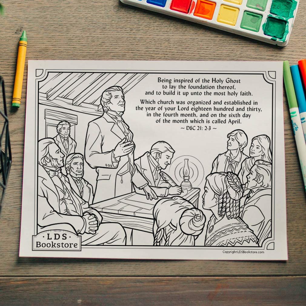 The Organization of the Church Coloring Page - Printable - LDPD-PBL-COLOR-DOCTCOV21