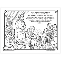 The Organization of the Church Coloring Page - Printable free lds coloring page, lds coloring page, come follow me activities, come follow me coloring page, doctrine and covenants coloring page