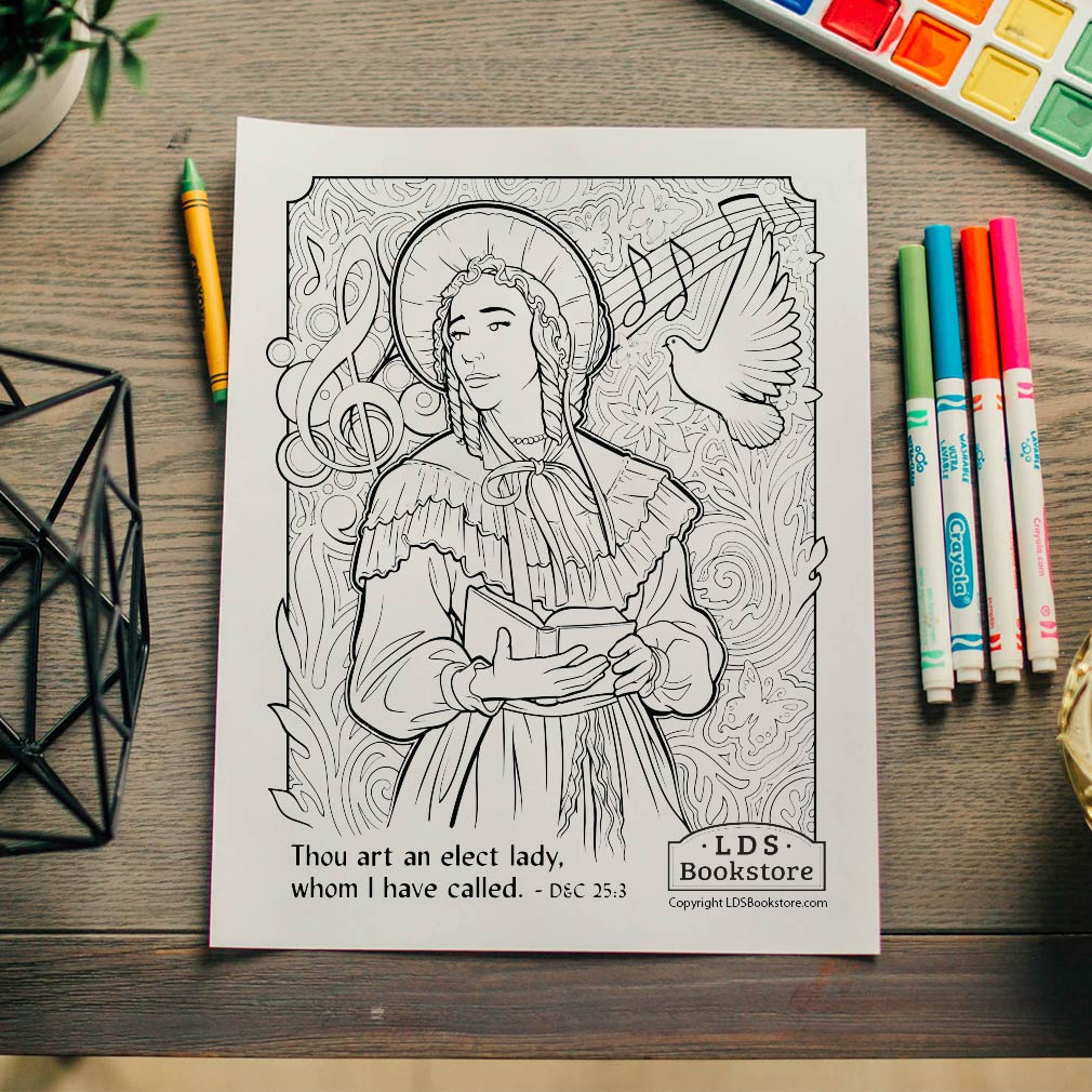 An Elect Lady Coloring Page - Printable - LDPD-PBL-COLOR-DOCTCOV25