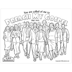 Preach My Gospel Coloring Page - Printable  free lds coloring page, lds coloring page, come follow me activities, come follow me coloring page, doctrine and covenants coloring page