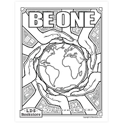 Be One Coloring Page - Printable free lds coloring page, lds coloring page, come follow me activities, come follow me coloring page, doctrine and covenants coloring page