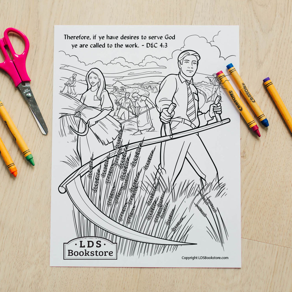 Ye Are Called to the Work Coloring Page - Printable  - LDPD-PBL-COLOR-DOCTCOV4
