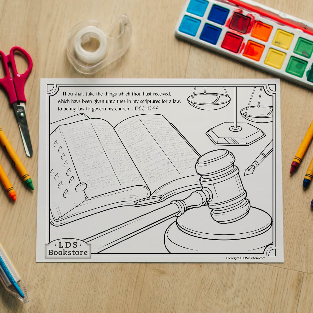 My Law to Govern My Church Coloring Page - Printable - LDPD-PBL-COLOR-DOCTCOV42