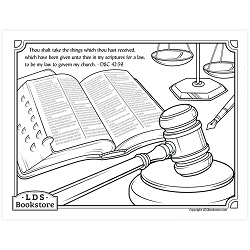 My Law to Govern My Church Coloring Page - Printable free lds coloring page, lds coloring page, come follow me activities, come follow me coloring page, doctrine and covenants coloring page