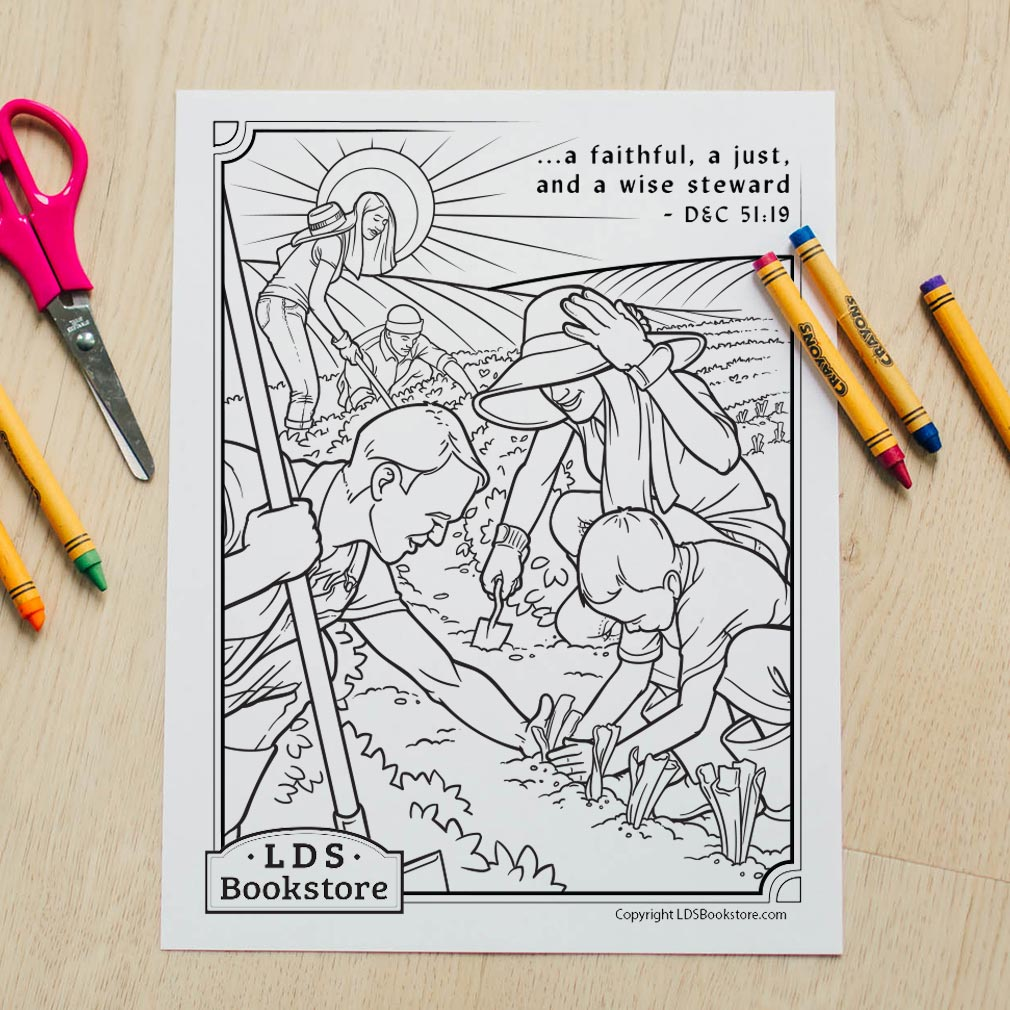 A Wise Steward Coloring Page - Printable - LDPD-PBL-COLOR-DOCTCOV51